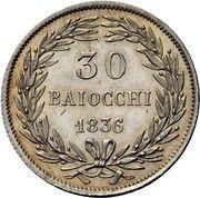 30 baiocchi - Gregory XVI – revers