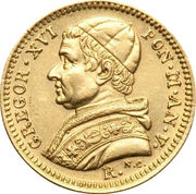2 ½ scudi - Gregory XVI – avers