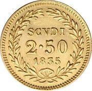 2 ½ scudi - Gregory XVI – revers