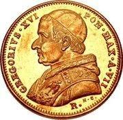5 scudi - Gregory XVI – avers