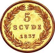 5 scudi - Gregory XVI – revers