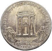 100 bolognini - Pius VI – revers