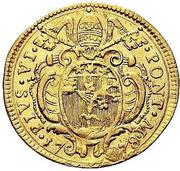 1 zecchino - Pius VI – avers