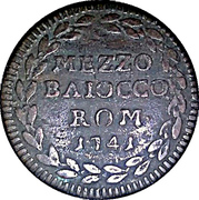 ½ Baiocco - Benedict XIV – revers