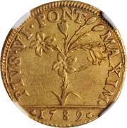 30 paoli, 1 doppia D'oro - Pius VI – avers