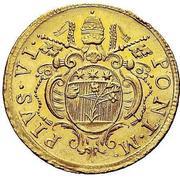 2 zecchini - Pius VI – avers