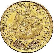 2 zecchini - Pius VI – revers