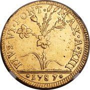 2 Doppie D'oro - Pius VI (Sestus) – avers