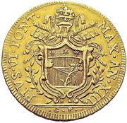 5 zecchini - Pius VI – avers