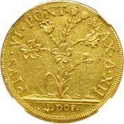 4 doppie D'oro Pius VI – avers
