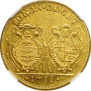4 doppie D'oro Pius VI – revers