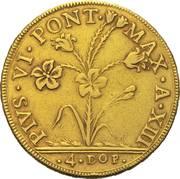 4 doppie D'oro - Pius VI – avers