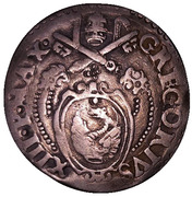 1 Testone - Gregory XIII (Ancona) – avers