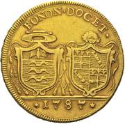4 doppie D'oro - Pius VI – revers