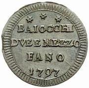 2 ½ baiocchi – avers