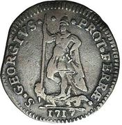Muraiola of 4 baiocchi - Clemens XI – revers