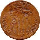 1 Quattrino - Benedetto XIV (Gubbio) – avers