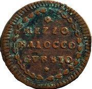 ½ baiocco - Pius VI – revers