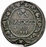 1 baiocco - Benedict XIII – revers