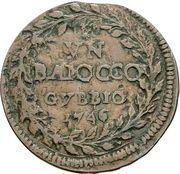 1 baiocco - Benedict XIV (Gubbio) – revers