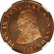 ½ soldo / 2½ centesimi - Pius IX – avers