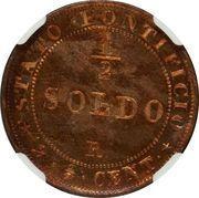 ½ soldo / 2½ centesimi - Pius IX – revers