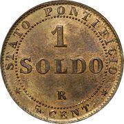 1 soldo / 5 centesimi - Pius IX – revers