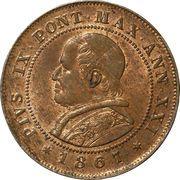 2 soldi / 10 centesimi - Pius IX – avers