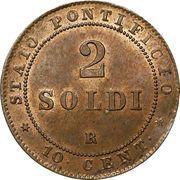 2 soldi / 10 centesimi - Pius IX – revers