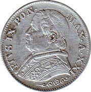 5 soldi -  Pius IX – avers