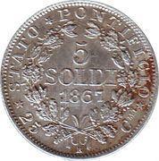 5 soldi -  Pius IX – revers