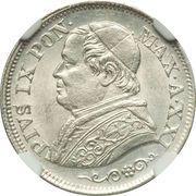 10 soldi - Pius IX – avers