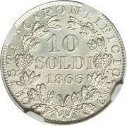 10 soldi - Pius IX – revers