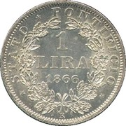 1 lira - Pius IX – revers