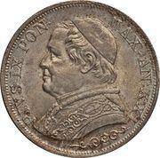 1 lira - Pius IX – avers