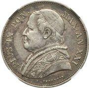 2½ lire - Pius IX – avers