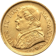 10 lire - Pius IX – avers