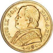 20 lire - Pius IX – avers