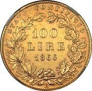 100 lires Pie IX – revers