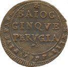 5 baiocchi - Pius VI (Perugia) – revers