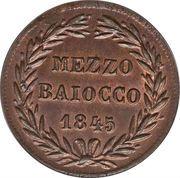 ½ baiocco - Gregory XVI – revers