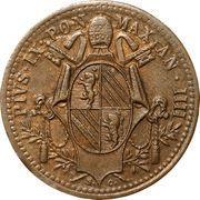 ½ baiocco - Pius IX – avers