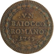 1 baiocco - Clement XIII – revers
