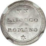 1 baiocco - Pius VI – revers