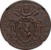 1 baiocco Pius VIII – avers