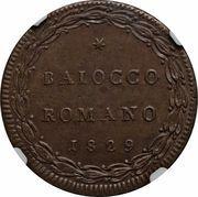 1 baiocco Pius VIII – revers