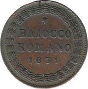 1 Baiocco - Gregory XVI – revers