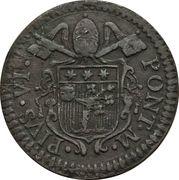 1 Quattrino - Pius VI – avers