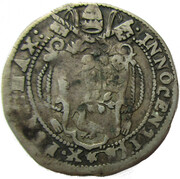 Papal States - Ferrara, 1 Giulio - Innocent X – avers