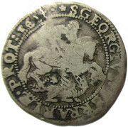 Papal States - Ferrara, 1 Giulio - Innocent X – revers